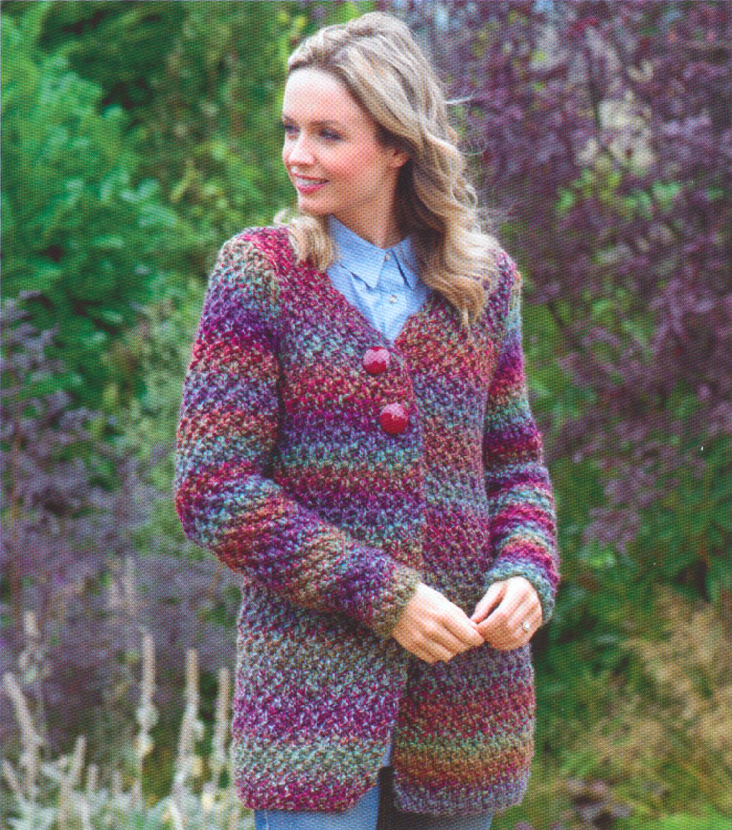 James Brett  mega chunky   ladies Knitting Pattern cardigan jb547
