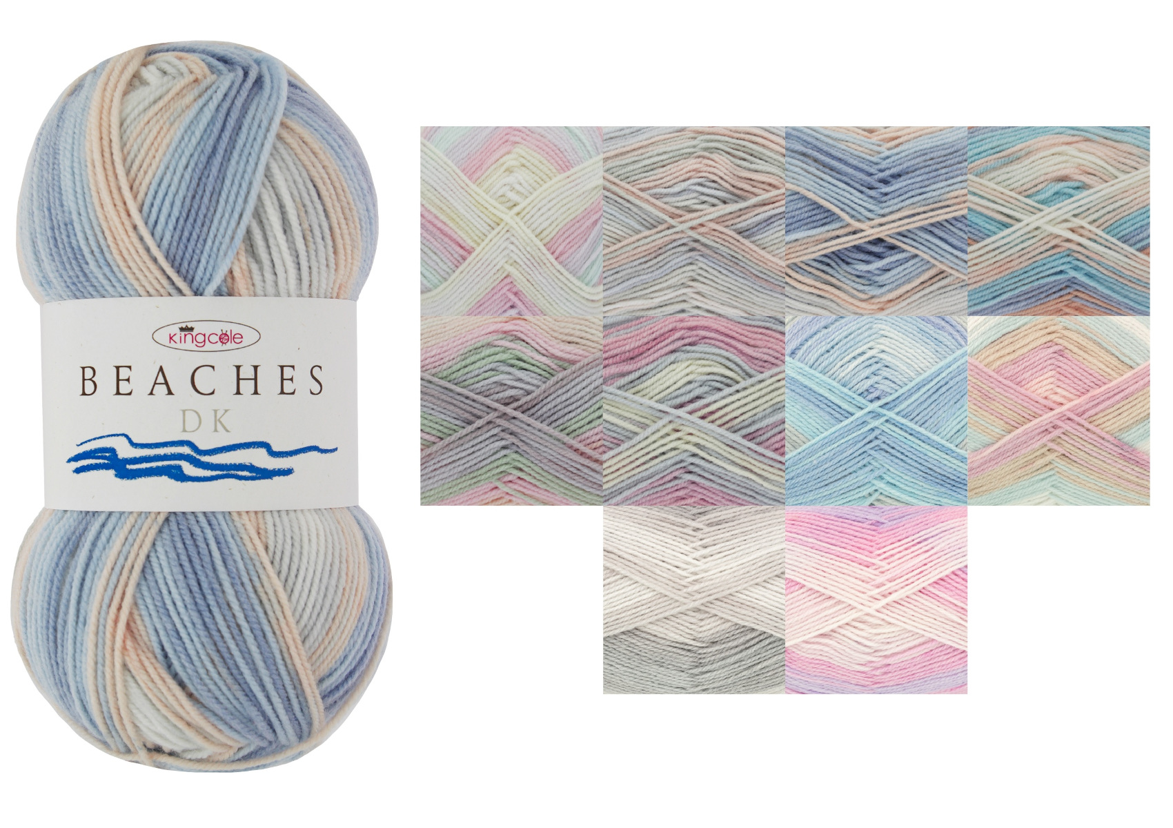 100g King Cole Beaches DK Knitting Yarn Shade Bondi Beach