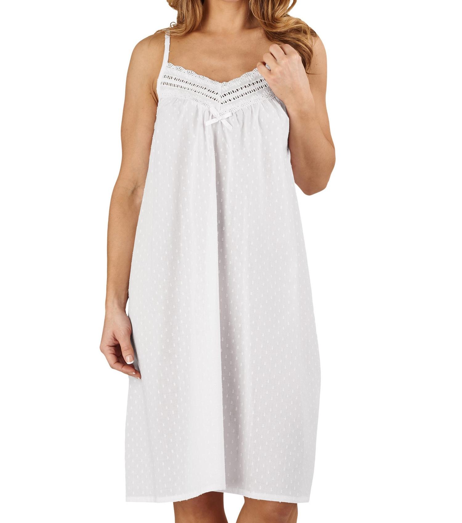 Ladies Womens Cotton Nightgown Nightwear Sleepwear Chemise Nightdress UK 12-20