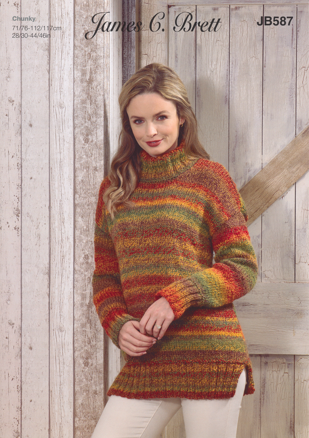 Womens Chunky Knitting Pattern Ladies High Neck Sweater ...