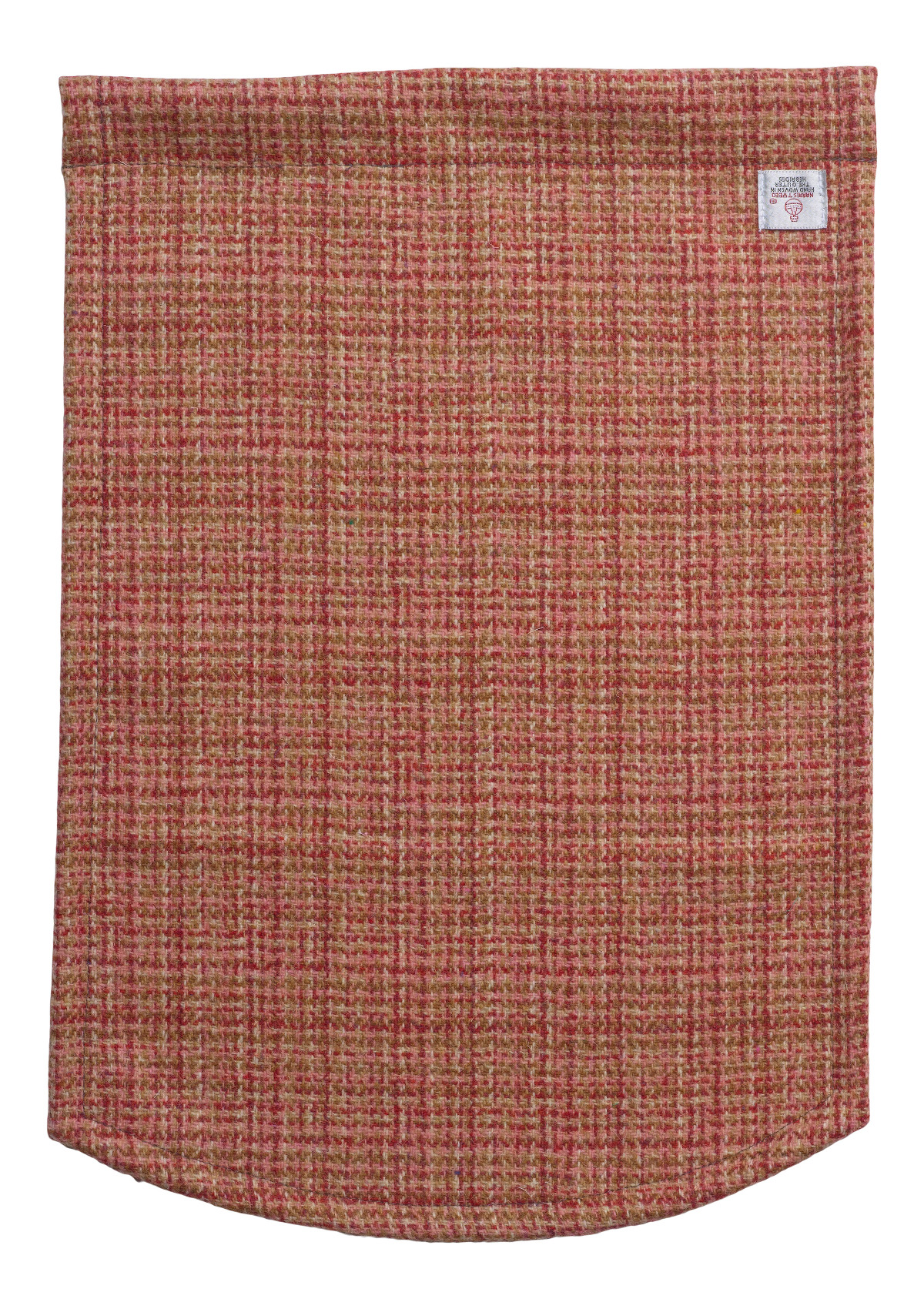 Single Antimacassar Chairback Pure New Wool Check Harris