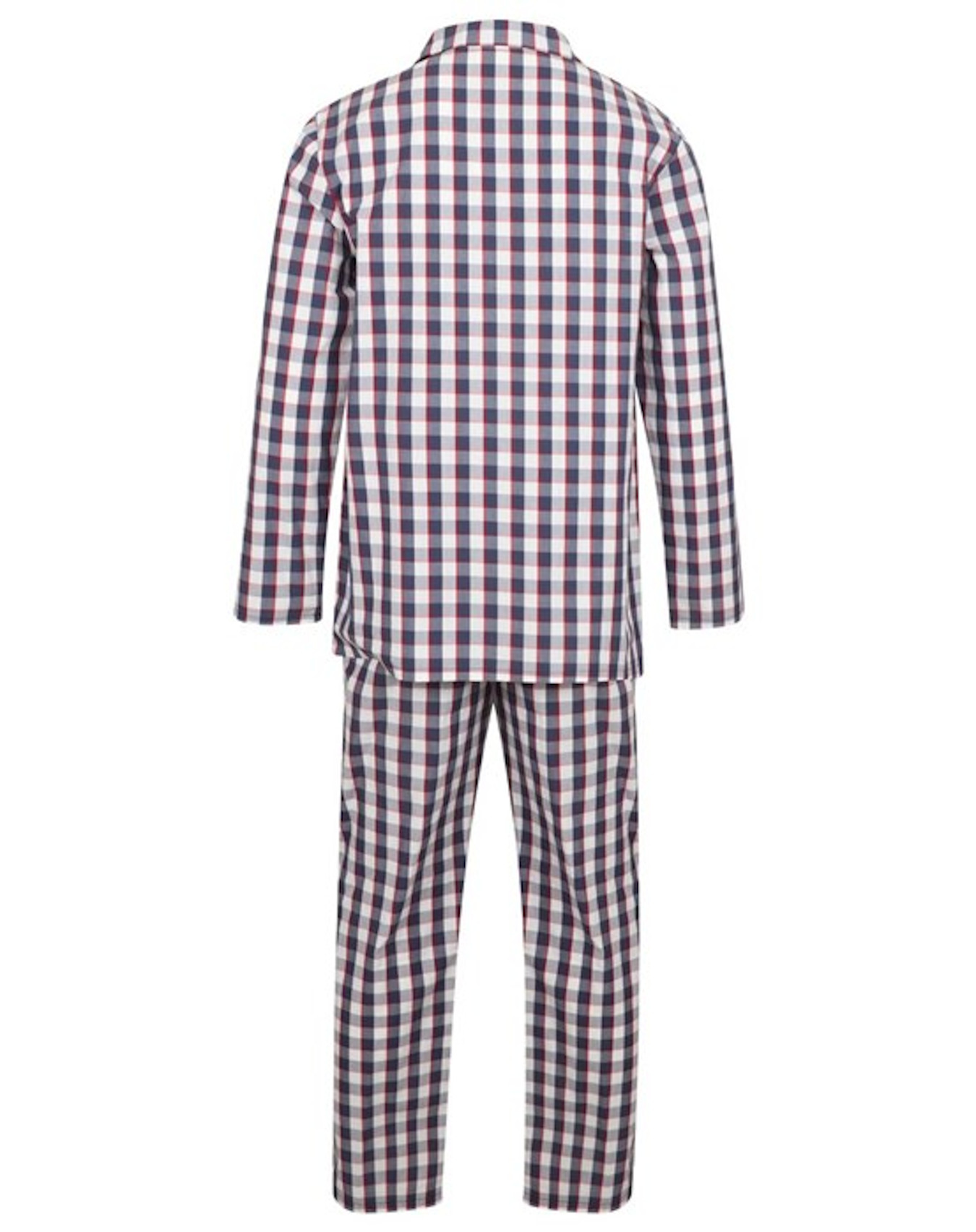 Walker Reid Mens Cotton Geo Print Tailored Pyjamas PJs Medium-3XL Blue or Red