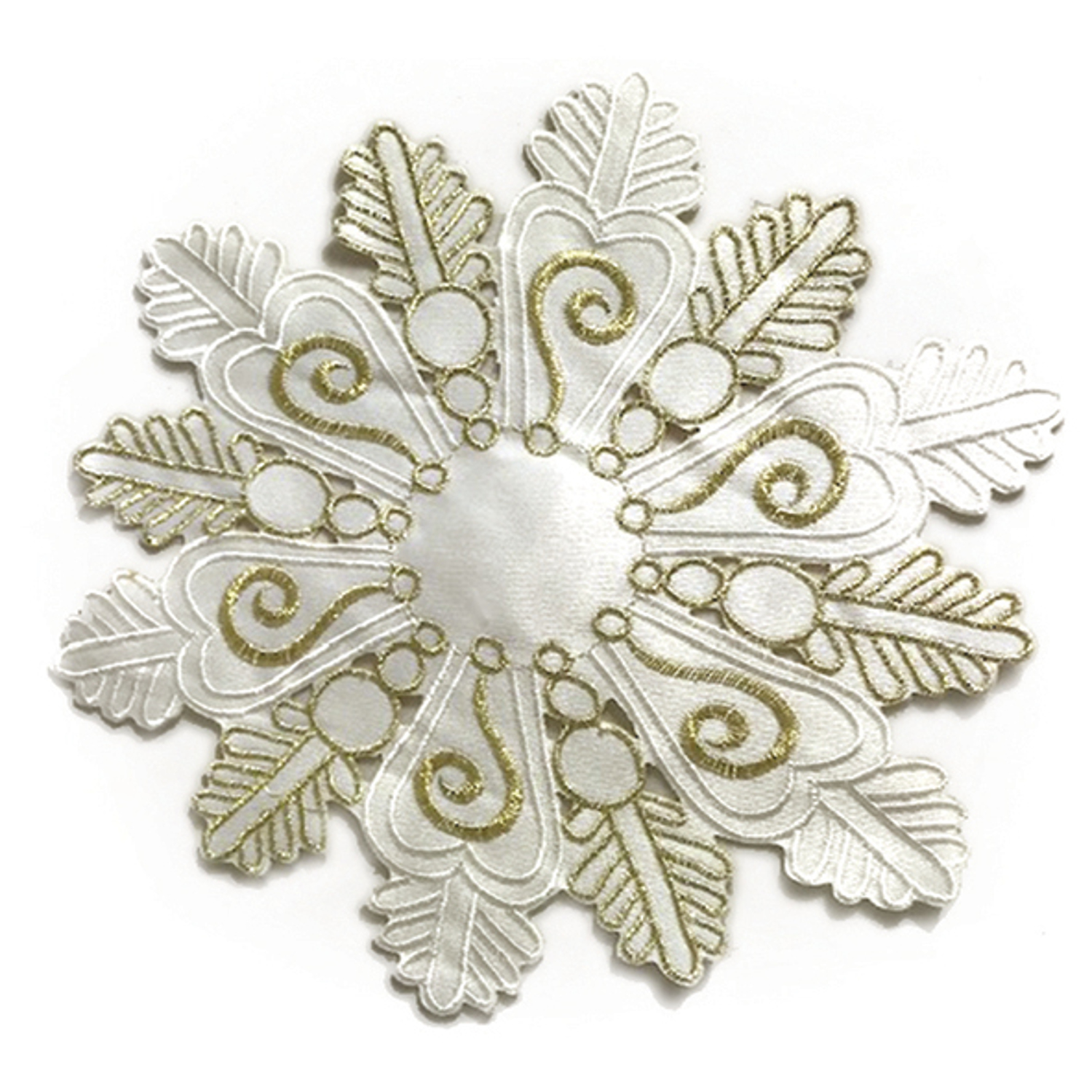 Pack of 4 or 8 Christmas Table Linen Doyly Xmas Snowflake Design 20cm Doiley