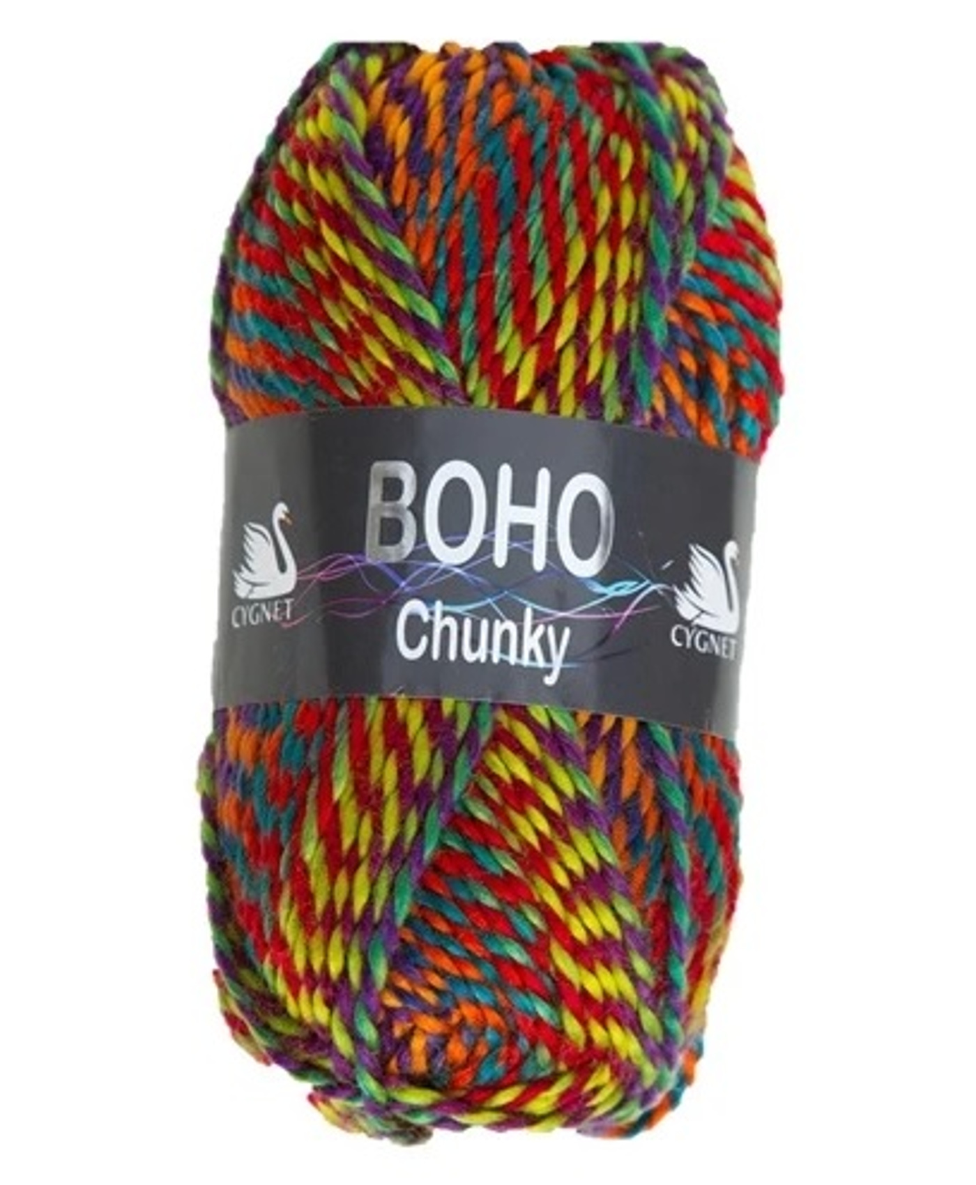 Boho Chunky 100g Ball Yarn & Free Knitting Pattern Cygnet ...