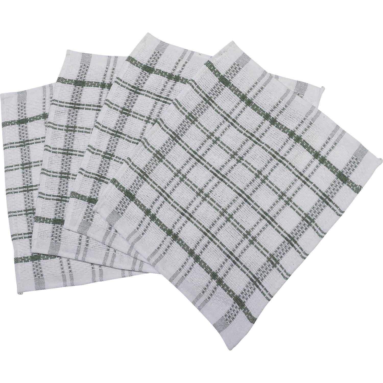Heavy Duty Cloth : Cotton heavy duty dish cloths checked bar bistro tea