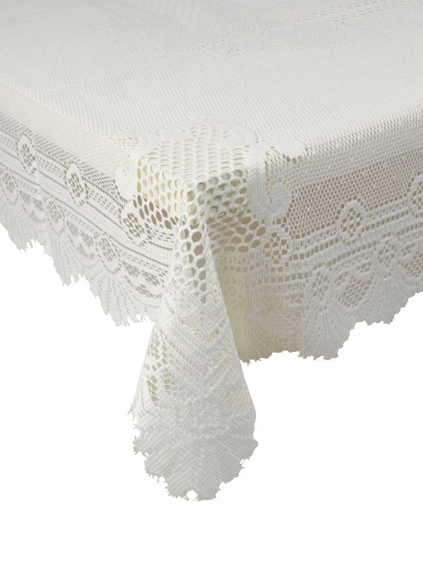 Monica Lace Tablecloth Decorative Rose Table Linen Traditional