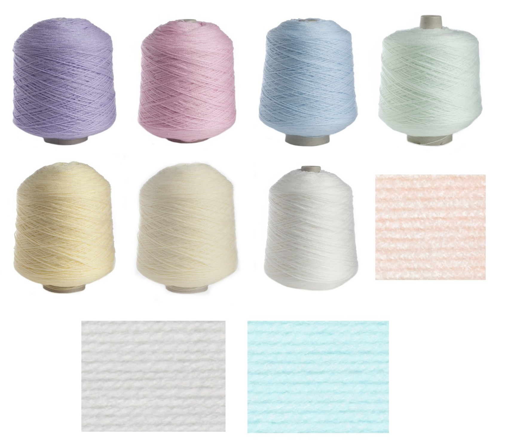 James Brett 500g Baby 4 Ply Pastel Cone Acrylic Hand or Machine Knitting Wool