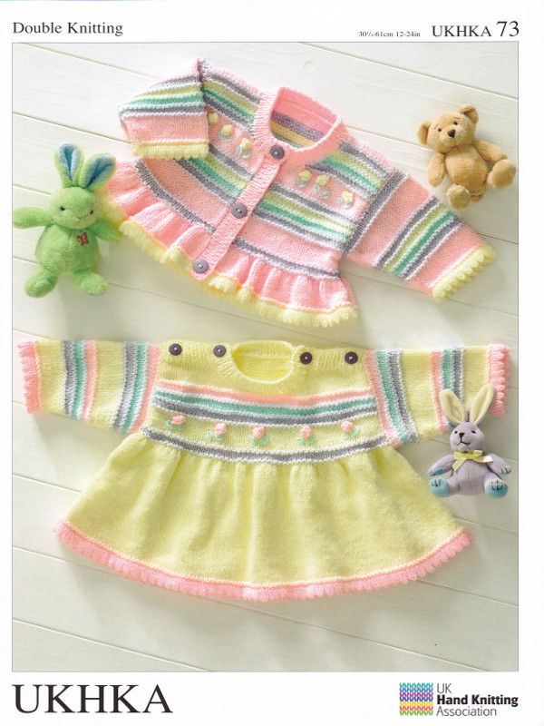 Baby DK Double Knitting Pattern Childrens Girls Jumper Dress ...