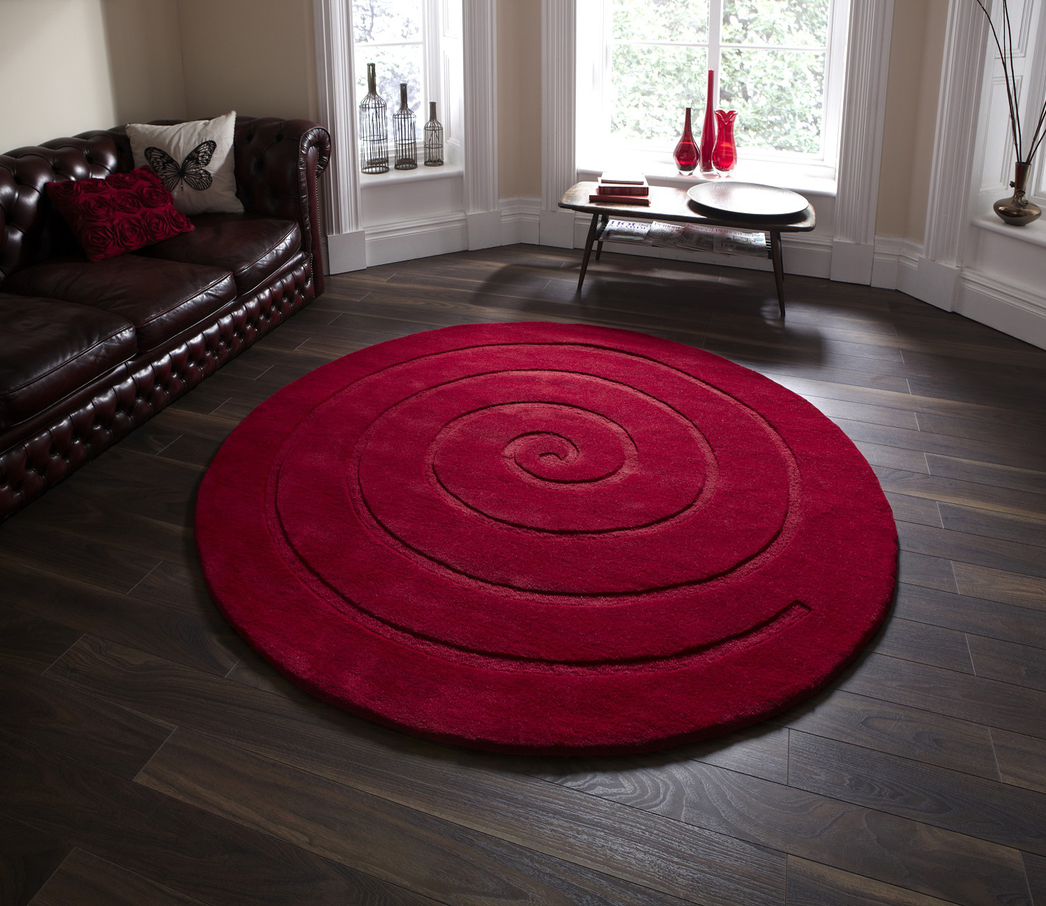 living room mats for sale spiral tufted 100 wool circular rug modern textured 22952