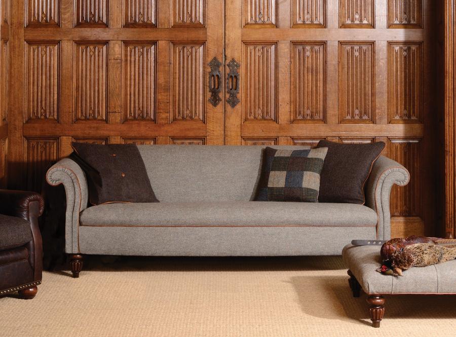 Tetrad bowmore sofa refil sofa for Leather and tweed sofa