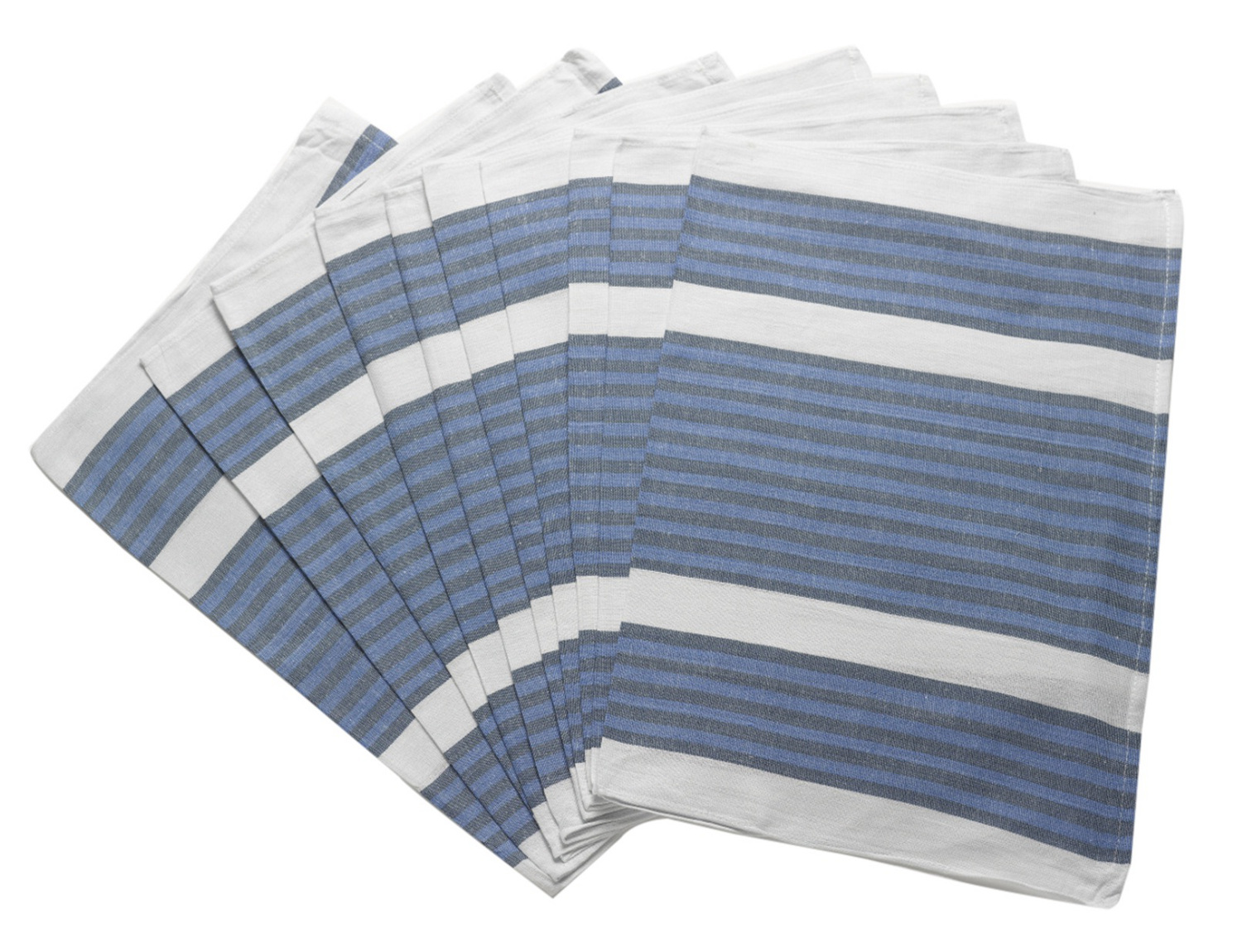 Pack Of 100 Cotton Striped Catering Dish Cloths