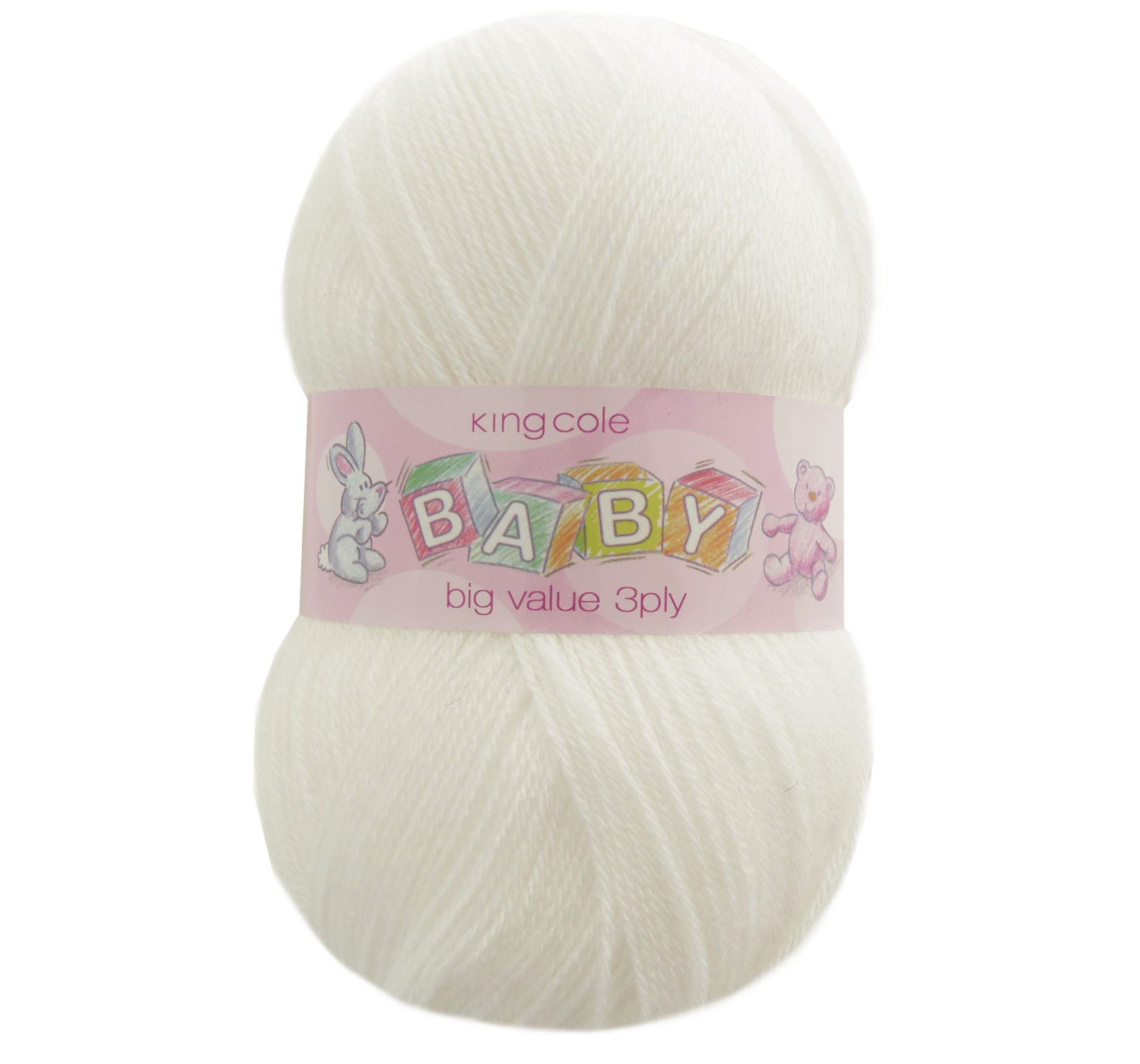 Big Value Baby 3 Ply Acrylic Yarn King Cole 100g Ball Wool Free ...