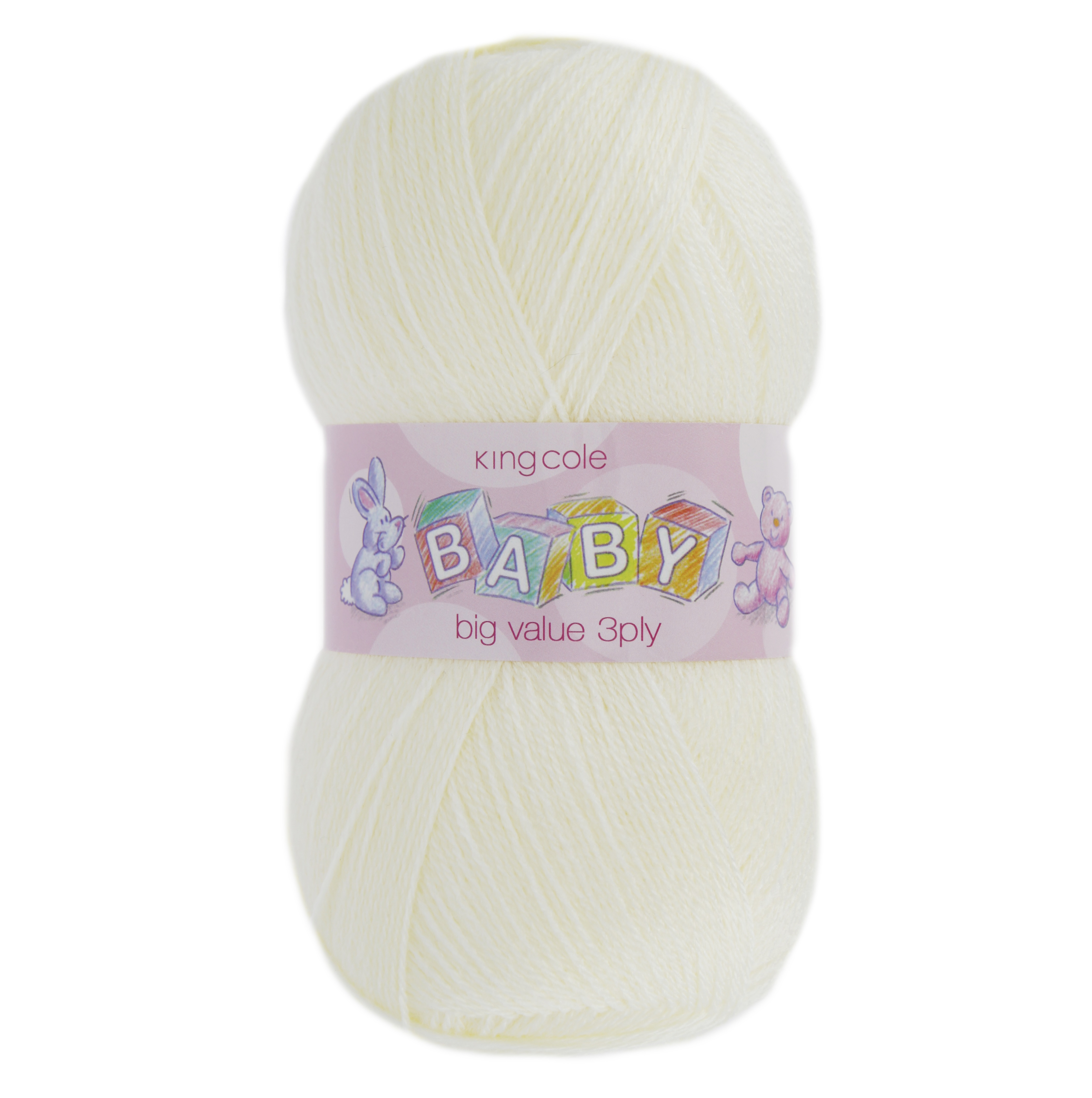 Big Value Baby 3 Ply Acrylic Yarn King Cole 100g Ball Wool Free ...