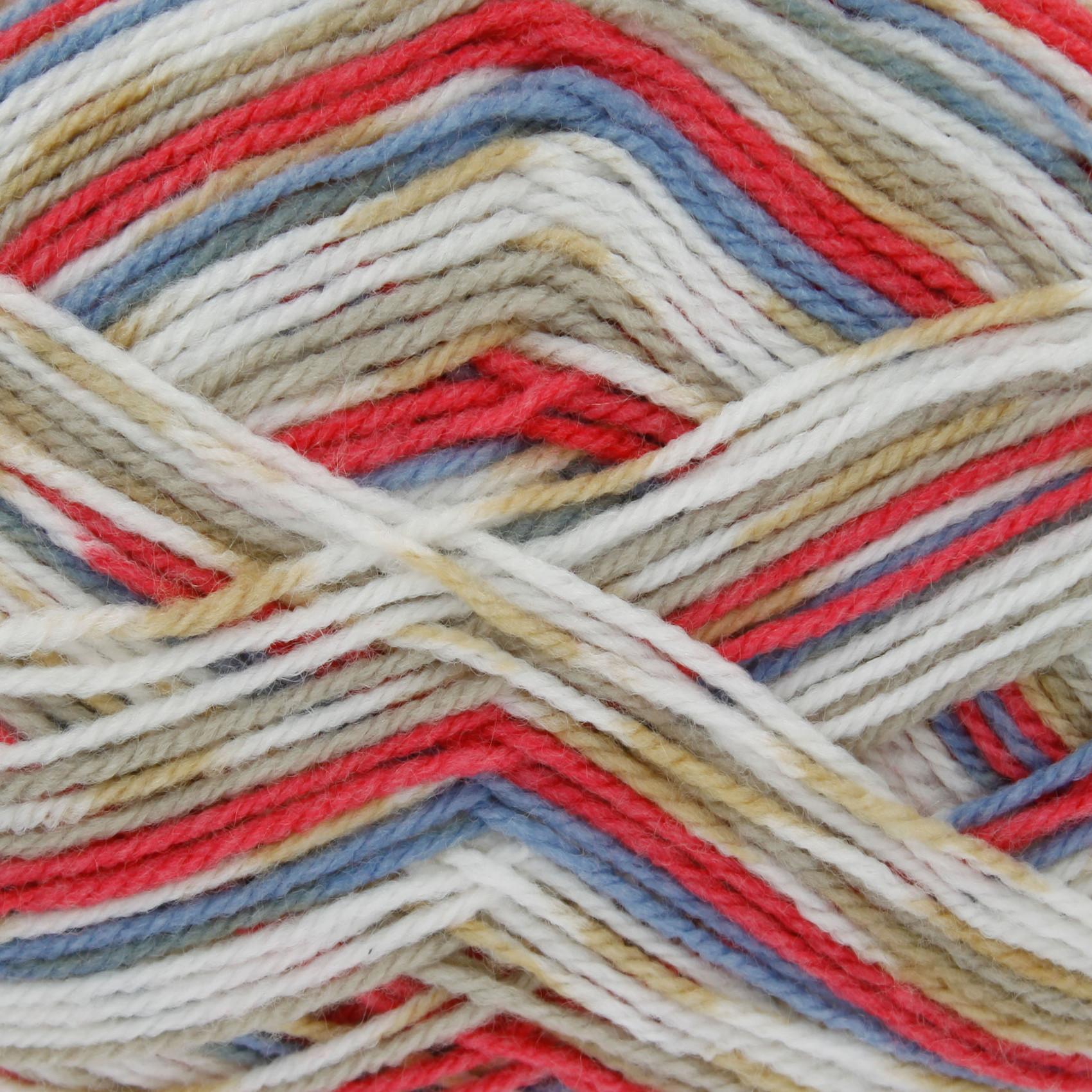 Knitting Yarn Design : Double knit g ball comfort prints dk yarn king cole