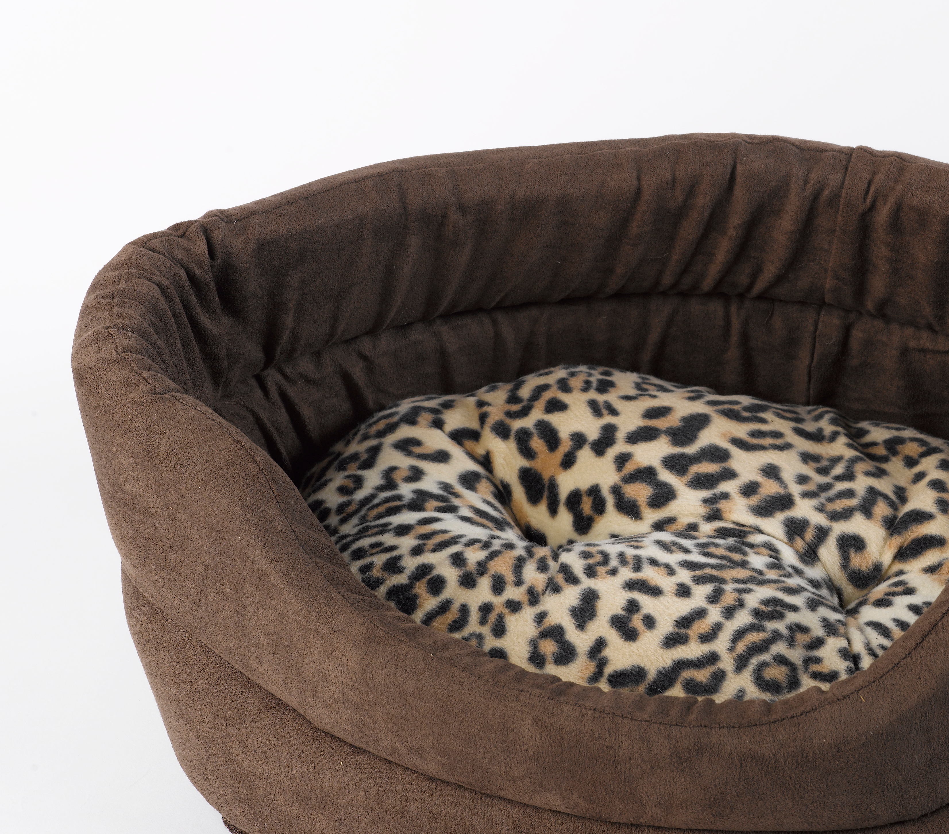 weich kunstwildleder katze bett mollies hund leopard. Black Bedroom Furniture Sets. Home Design Ideas
