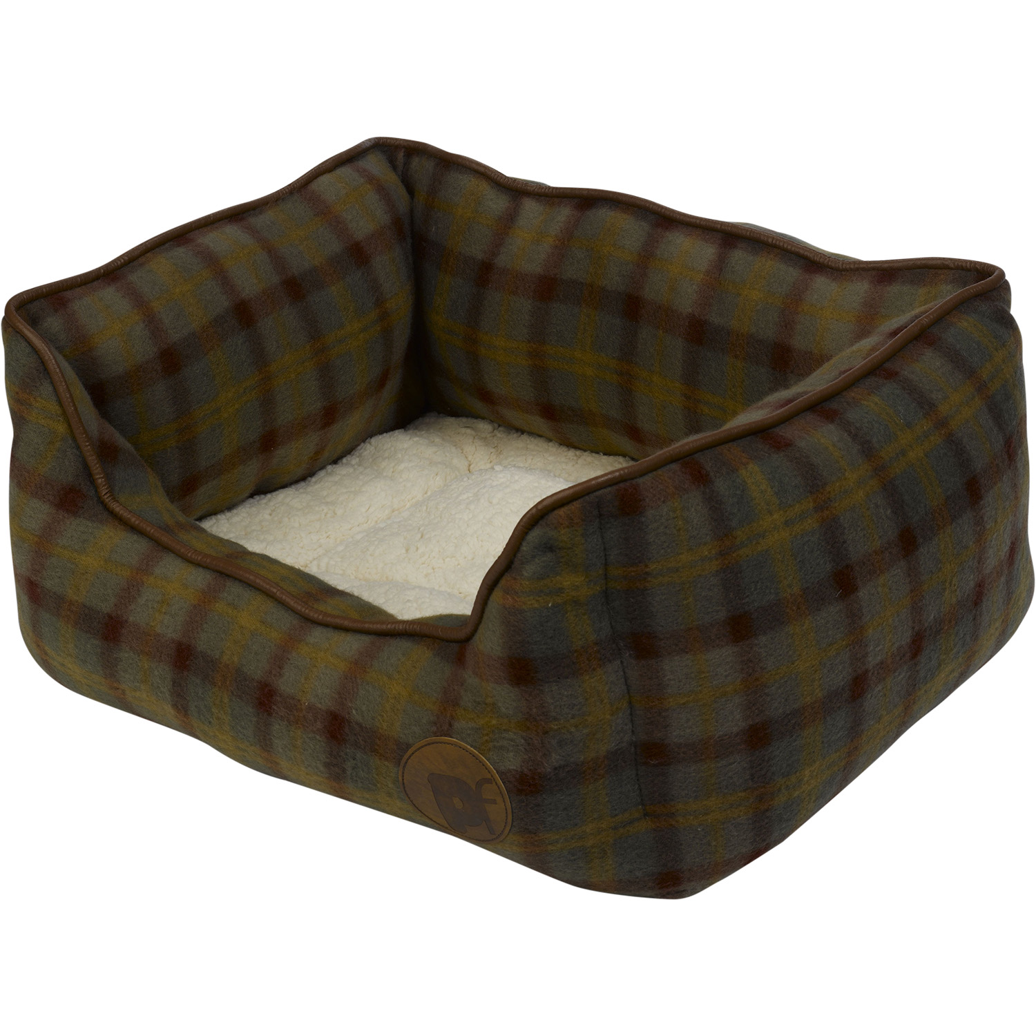Petface Country Check Medium Dog Bed
