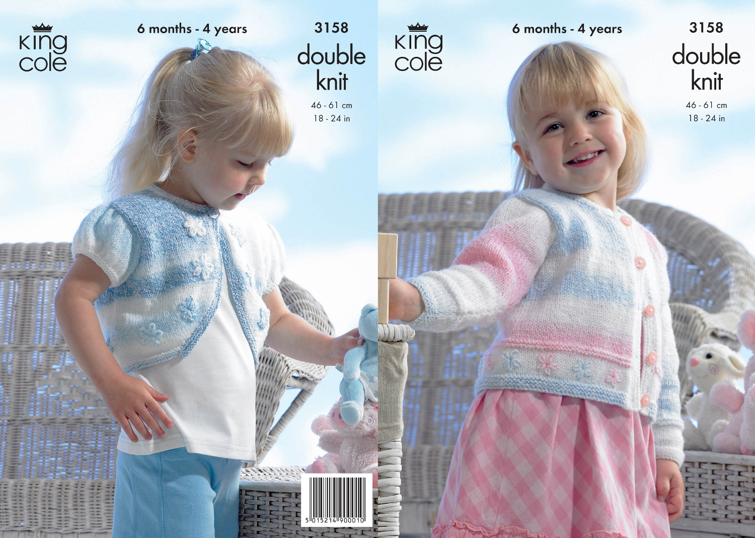 Double knitting pattern king cole girls cardigan bolero childs double knitting pattern king cole girls cardigan bolero childs knitted dk 3158 bankloansurffo Image collections
