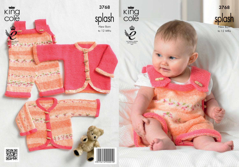 Baby double knitting pattern splash dk king cole set cardigans baby double knitting pattern splash dk king cole set cardigans dungarees 3768 bankloansurffo Choice Image