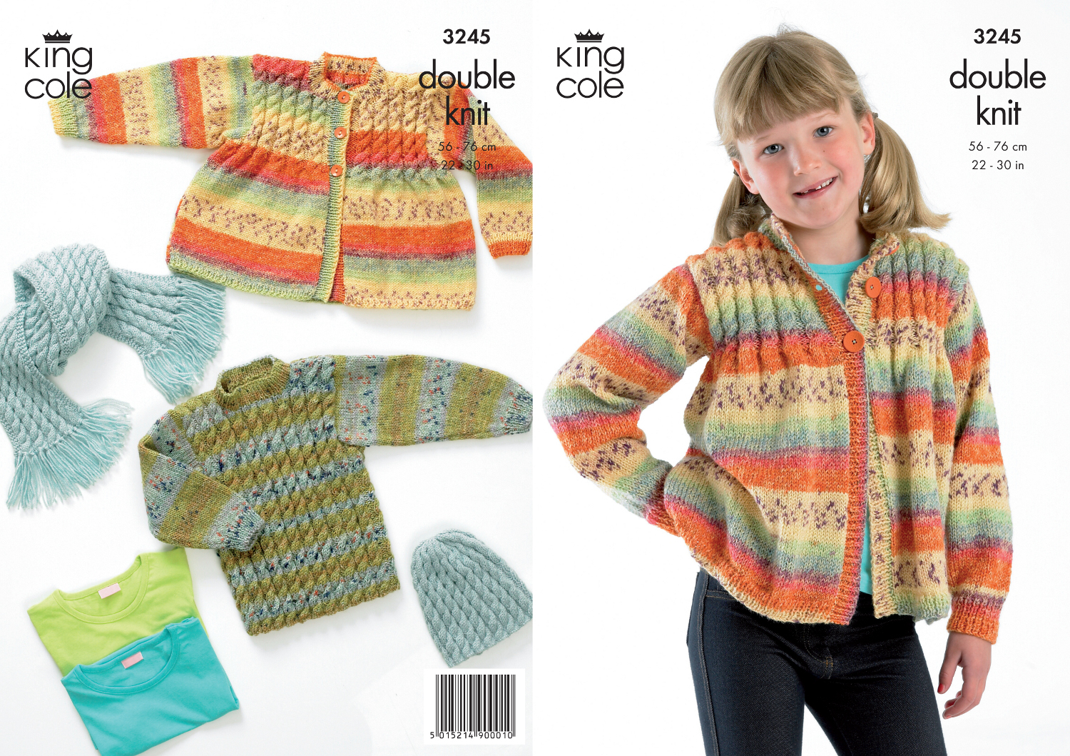 Kid Double Knitting Pattern King Cole Knitted Cardigan Sweater Hat ...