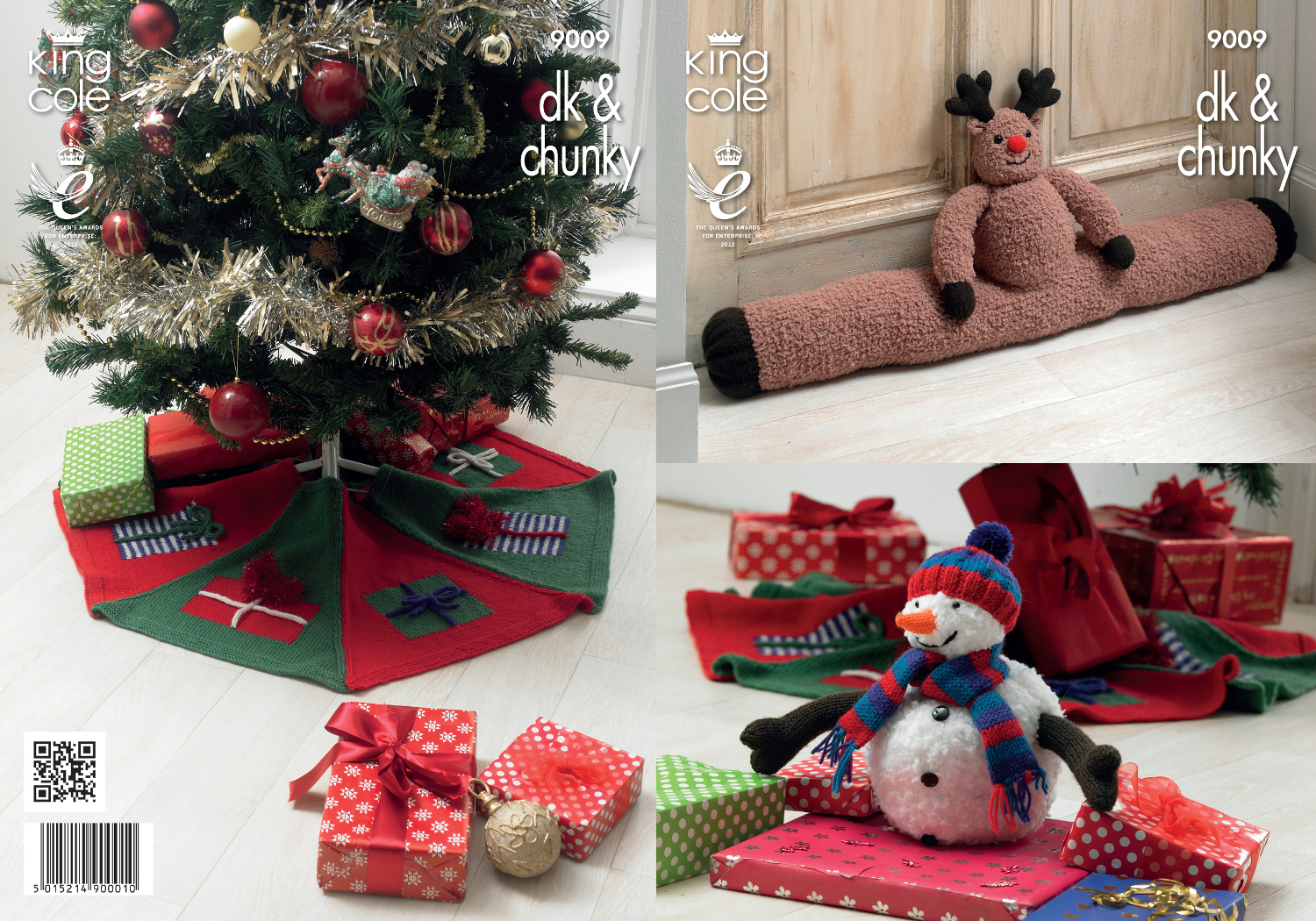 King Cole Christmas Knitting Pattern Draught Excluder Tree Trim ...