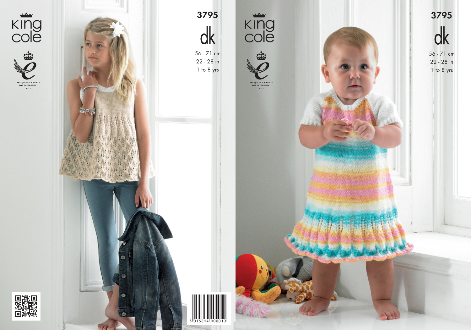 King cole baby double knitting dk pattern smock top striped king cole baby double knitting dk pattern smock top striped frilled dress 3795 bankloansurffo Choice Image