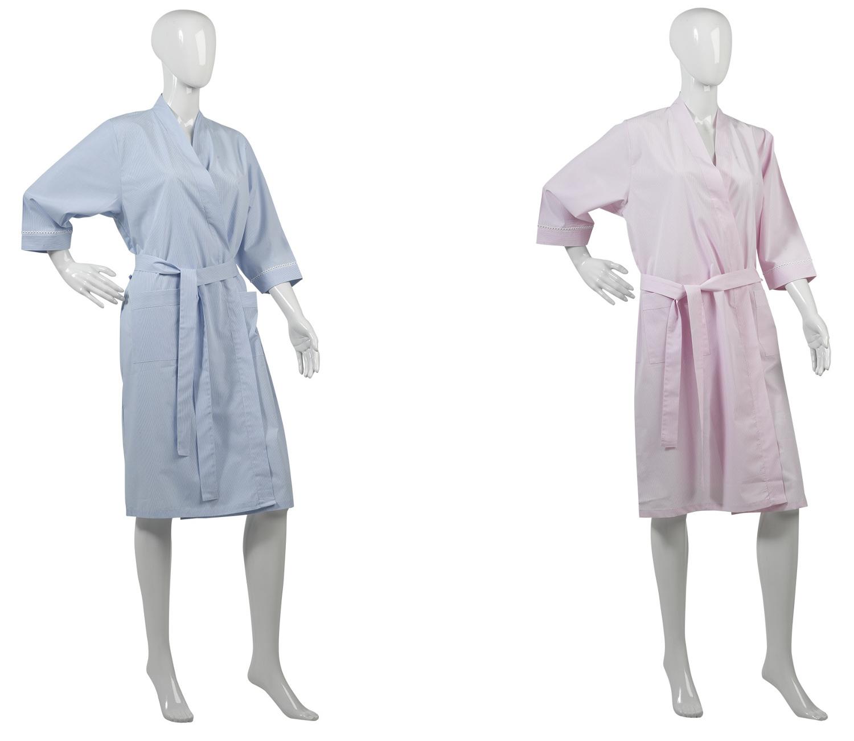 Womens Lightweight Slenderella Dressing Gown Ladies Striped 100 ...