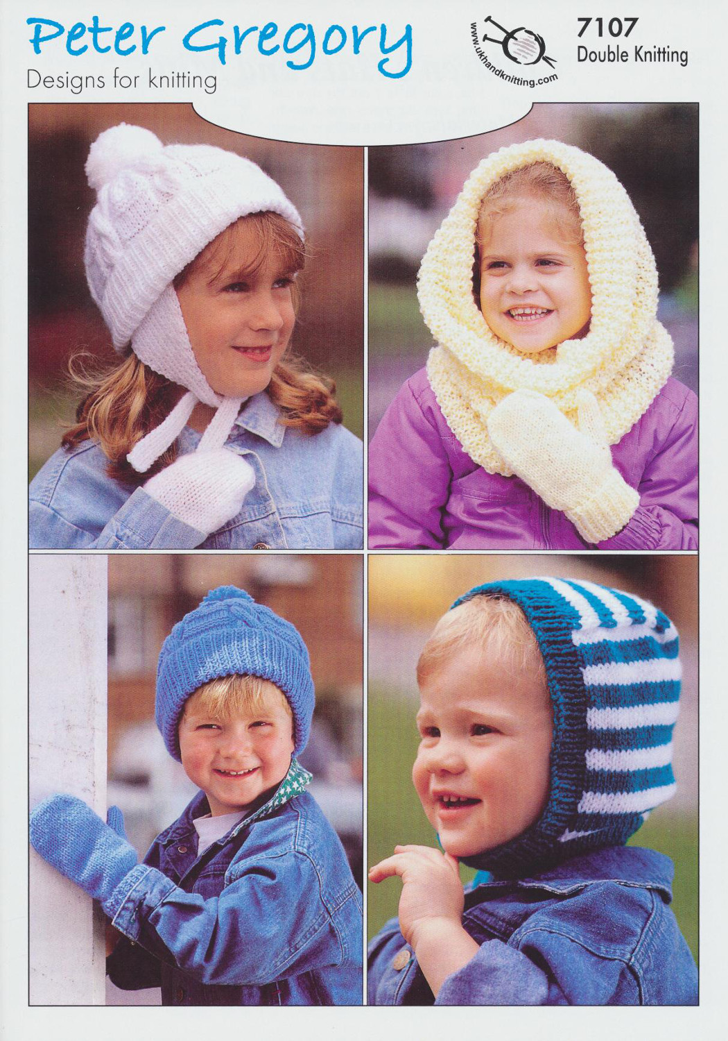 Childrens Double Knitting Pattern Kids Hats Mittens Gloves Peter ...