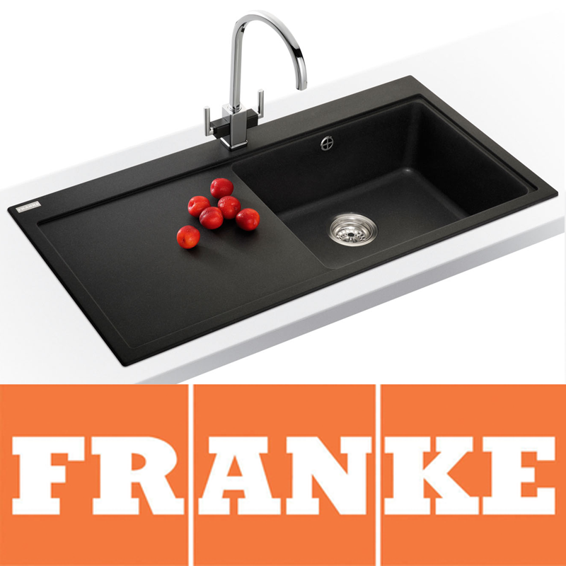 franke granite kitchen sinks franke mythos 1 0 bowl granite onyx black kitchen sink 3522