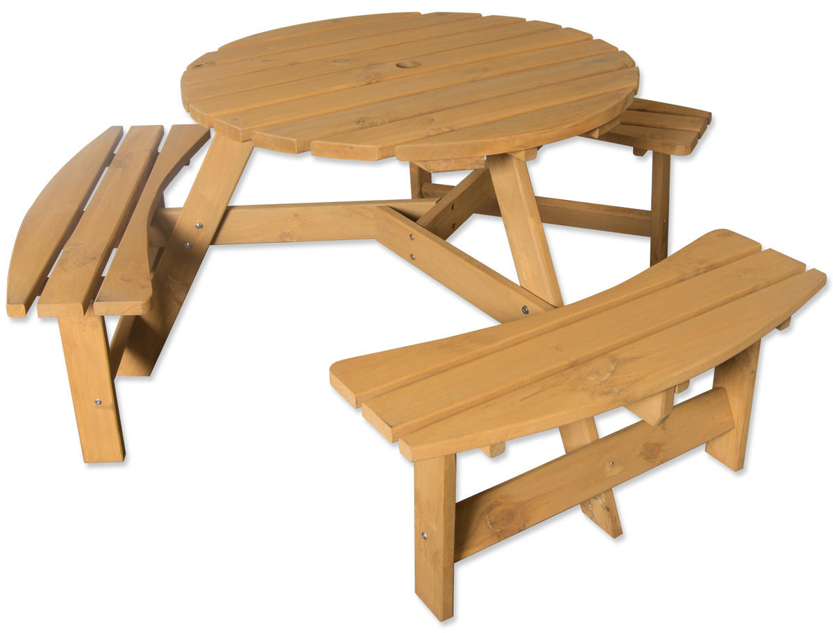 Garden Bench Table Part - 50: Maribelle 6 Seater Garden Bench - STAINED