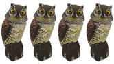 Woodside Owl With Rotating Head X 4