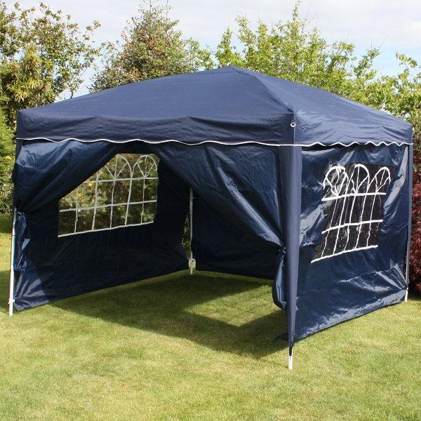 Andes 3m x 3m Folding Gazebo Side Wall Pack - NAVY BLUE