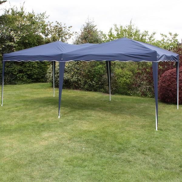 Andes 6m x 3m Folding Gazebo - NAVY BLUE