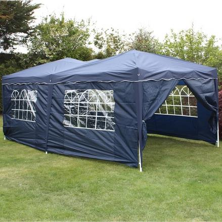 Andes 6m x 3m Folding Gazebo Side Wall Pack - NAVY BLUE 1 DOOR