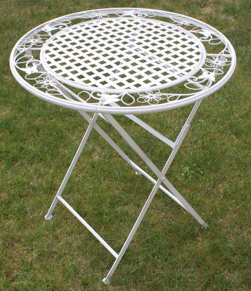 Maribelle Folding Metal Garden Table