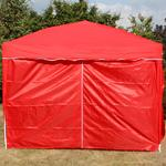 Andes 3m x 3m Folding Gazebo Side Wall Pack - RED Thumbnail 2