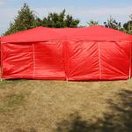Andes 6m x 3m Folding Gazebo Side Wall Pack - RED 2 DOORS Thumbnail 2