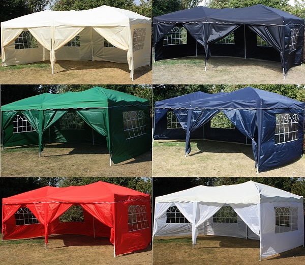 Andes 6m x 3m Gazebo With Side Wall Pack 2 Door