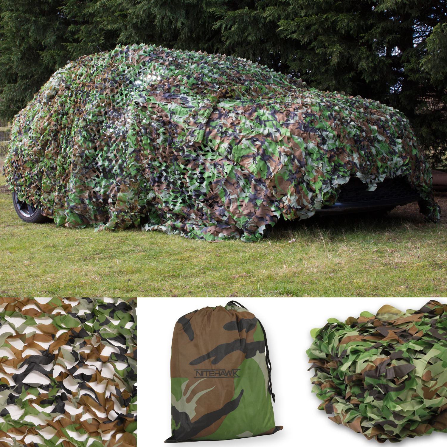 Nitehawk Camouflage Net With Carry Bag Camouflage