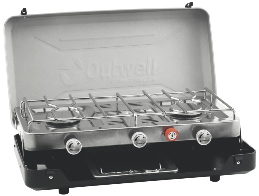 Outwell Gourmet Cooker 3 Burner Stove With Grill