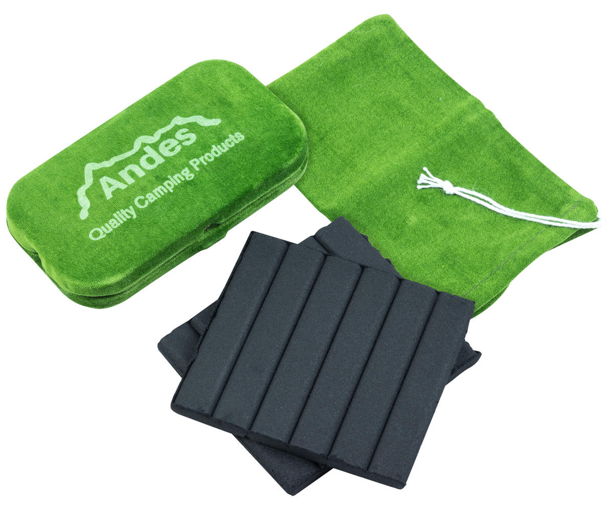 Andes Camping Pocket Hand Warmer and 12 Fuel Sticks