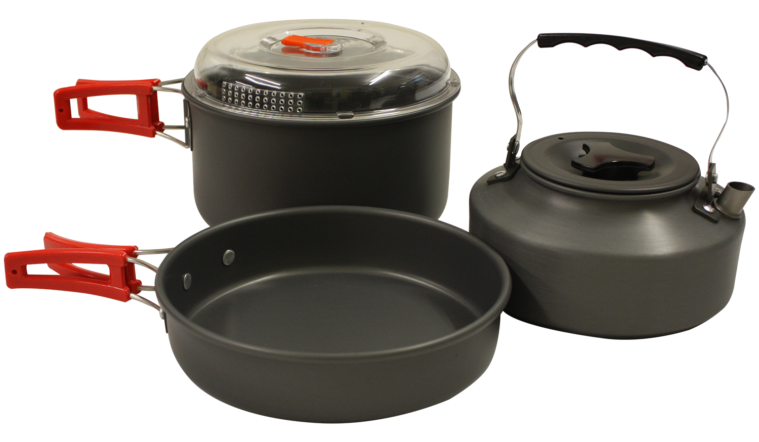 Cooking With A Kettle ~ Portable camping cook cooking cookware set anodised