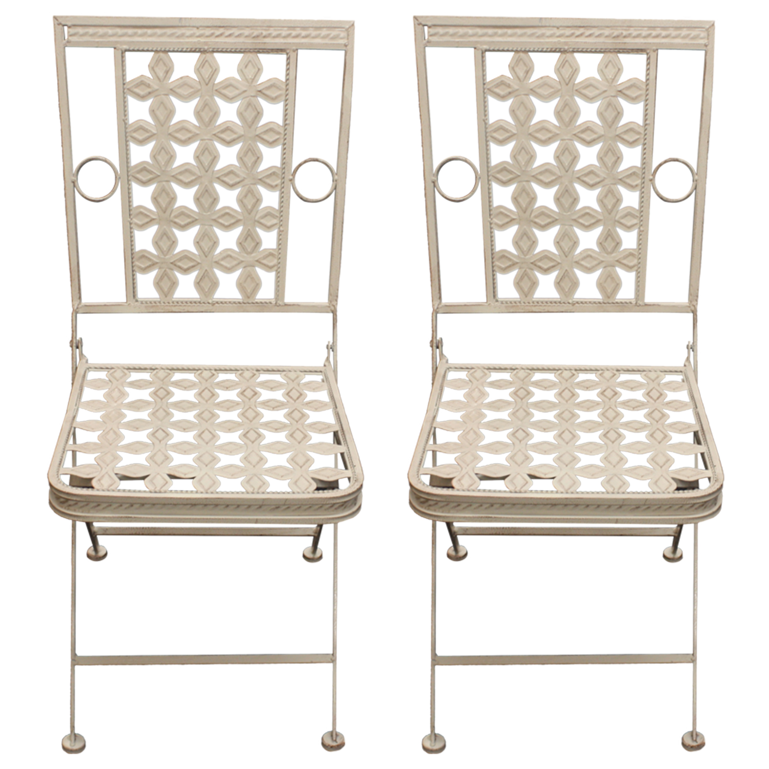 Woodside 2 X Square Metal Chairs Furniture Outdoor Value
