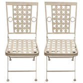 Woodside 2 x Square Metal Chairs