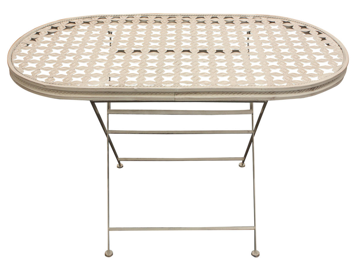 Woodside Oval Metal Table