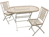 Woodside Oval Metal Table & Two Square Chairs