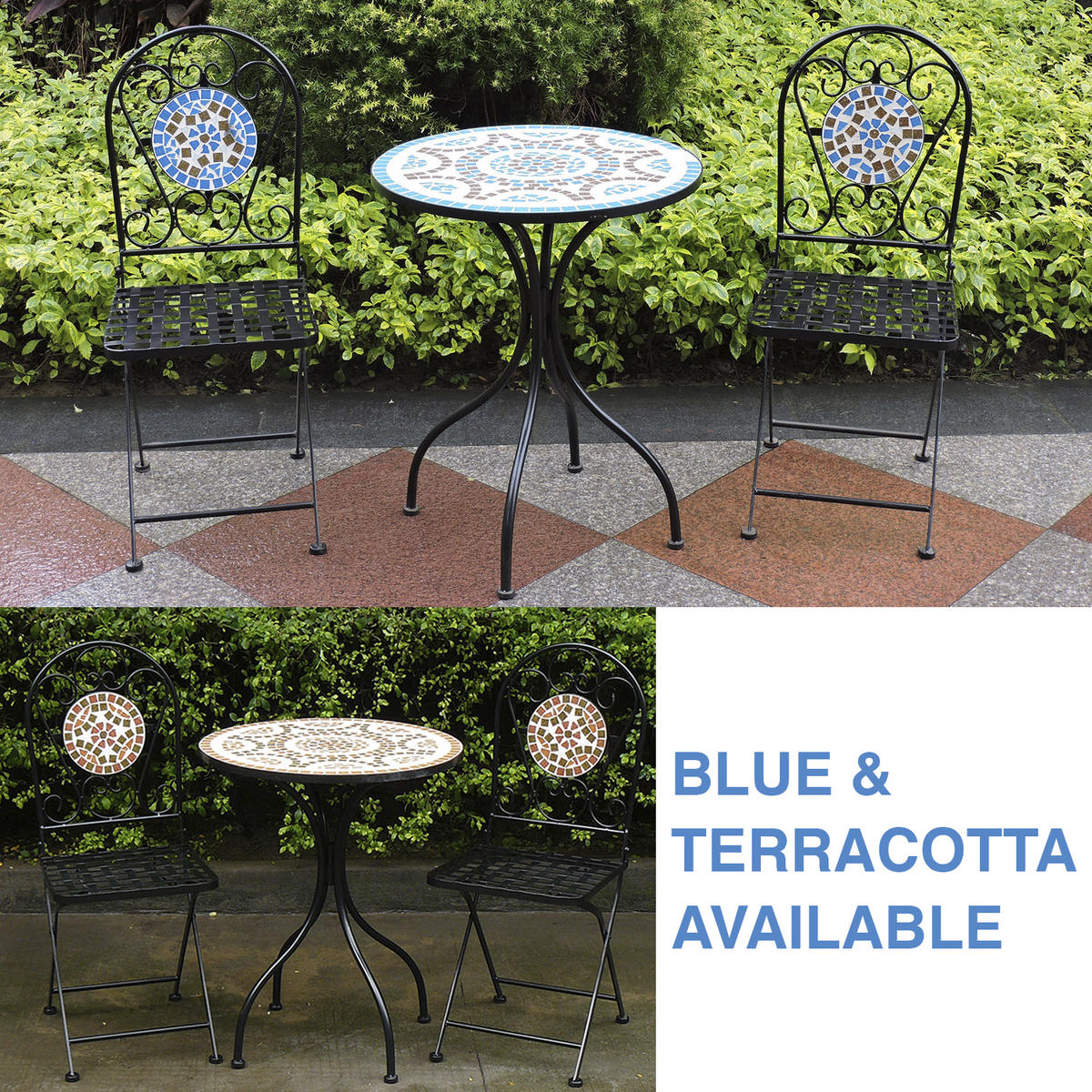 Woodside Mosaic Table And Chair Set