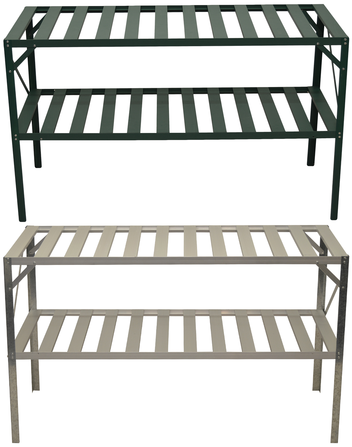Woodside Greenhouse Metal Staging Bench Plant Potting
