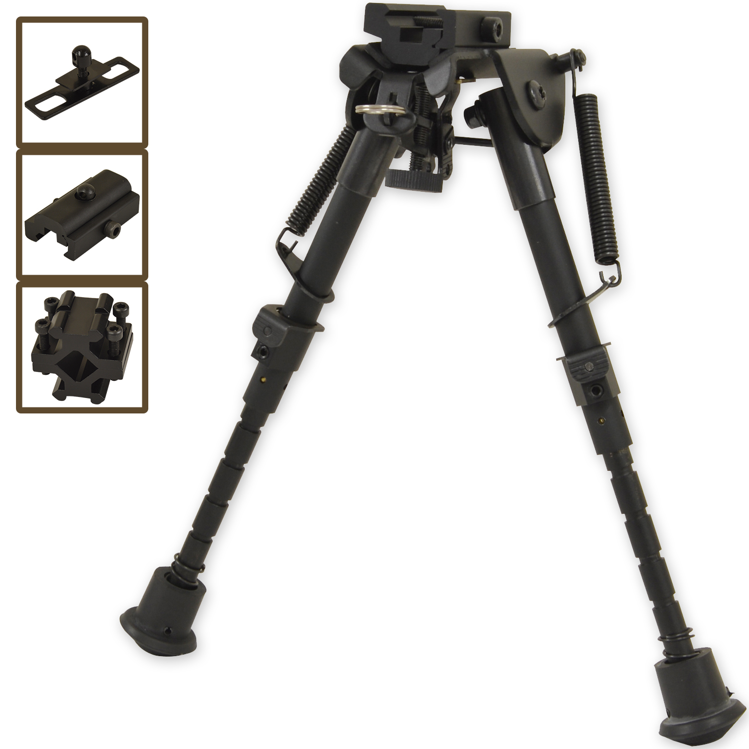 Nitehawk Air Rifle Precision Hunting Shooting Bipod Adjustable Swivel Gun Rest | eBay