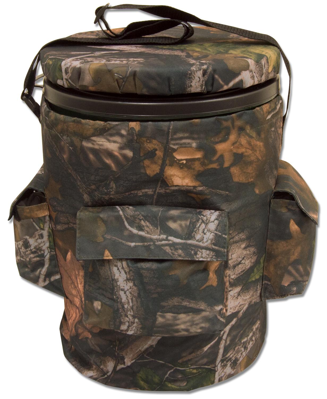 Camouflage shooting swivel hunting fishing bucket seat for Fishing bucket seat