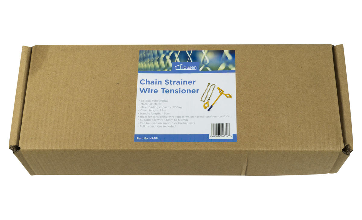 how to use a chain wire strainer